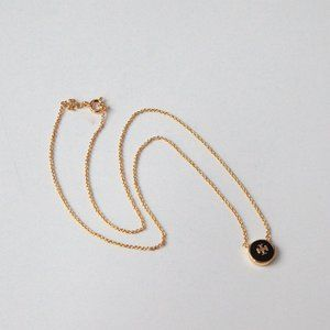 🔥Tory Burch Enamel round pendant necklace 44cm